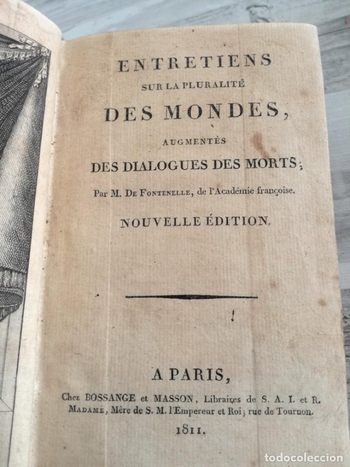Libros antiguos: ENTRETIENS SUR LA PLURALITÉ DES MONDES - CONVERSACIONES SOBRE LA PLURALIDAD DE MUNDOS. DESPLEGABLE - Foto 5 - 131746622