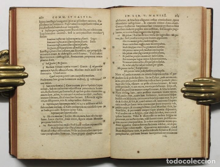 Libros antiguos: M. MANILI ASTRONOMICON LIBRI QUINQUE... Eiusdem Ios. Scaligeri commentarius in eosdem libros, et cas - Foto 3 - 109022442
