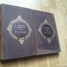 Libros antiguos: LES ESSAI D'ASTRONOMIE SIDÉRALE (DOS TOMOS) - AÑO 1880 / LE P. AL SECCHI /. Lote 135584810