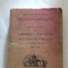 Libros antiguos: OBSERVATORIO ASTRONÓMICO DE MADRID. ANUARIO PARA 1942. MADRID, 1941. Lote 136194290
