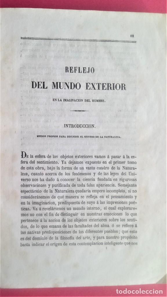 Libros antiguos: LIBRO,COSMOS ENSAYO DE UNA DESCRIPCION FISICA DEL MUNDO,SIGLO XIX AÑO 1851,2 TOMOS,ESPACIO-UNIVERSO - Foto 8 - 138935742
