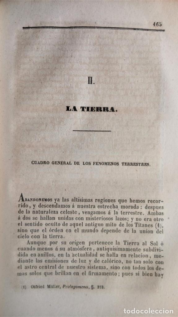 Libros antiguos: LIBRO,COSMOS ENSAYO DE UNA DESCRIPCION FISICA DEL MUNDO,SIGLO XIX AÑO 1851,2 TOMOS,ESPACIO-UNIVERSO - Foto 9 - 138935742