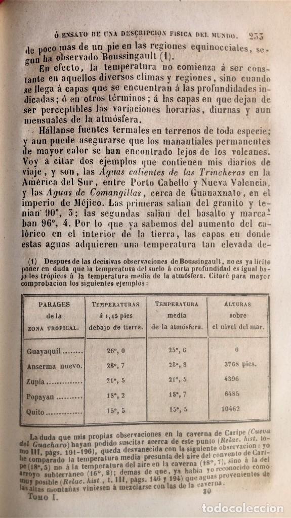 Libros antiguos: LIBRO,COSMOS ENSAYO DE UNA DESCRIPCION FISICA DEL MUNDO,SIGLO XIX AÑO 1851,2 TOMOS,ESPACIO-UNIVERSO - Foto 10 - 138935742