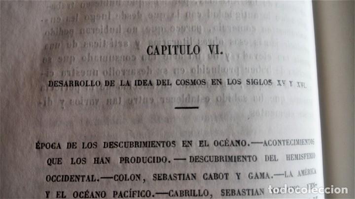 Libros antiguos: LIBRO,COSMOS ENSAYO DE UNA DESCRIPCION FISICA DEL MUNDO,SIGLO XIX AÑO 1851,2 TOMOS,ESPACIO-UNIVERSO - Foto 12 - 138935742