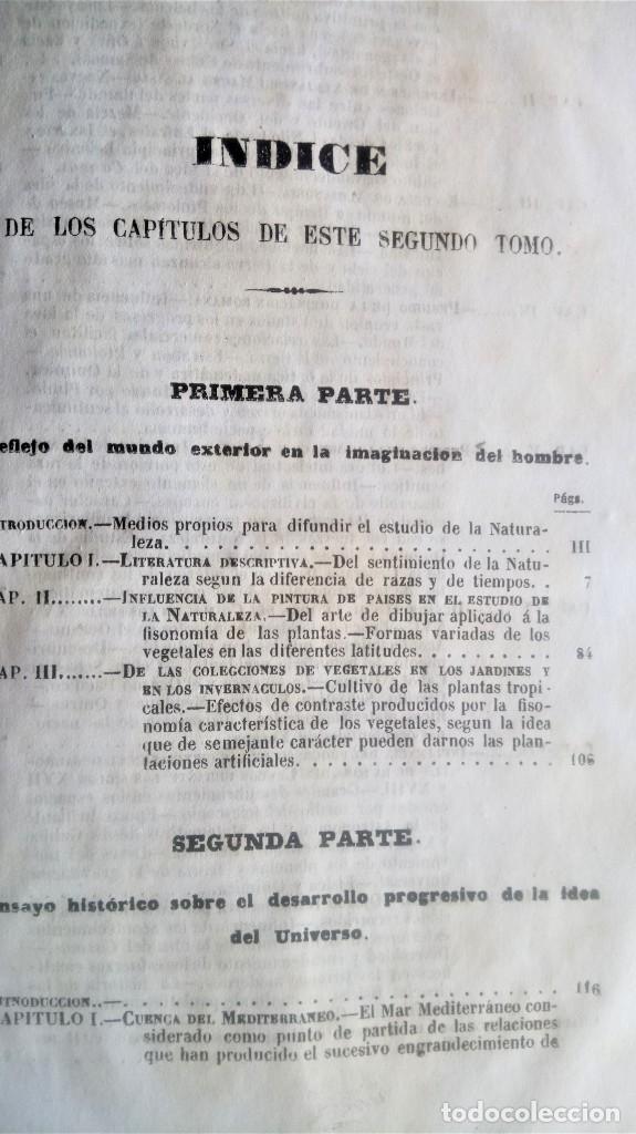 Libros antiguos: LIBRO,COSMOS ENSAYO DE UNA DESCRIPCION FISICA DEL MUNDO,SIGLO XIX AÑO 1851,2 TOMOS,ESPACIO-UNIVERSO - Foto 14 - 138935742