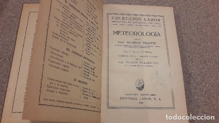Libros antiguos: METEREOLOGIA... EDITORIAL LABOR....1926... - Foto 2 - 139170226
