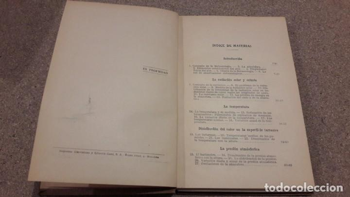 Libros antiguos: METEREOLOGIA... EDITORIAL LABOR....1926... - Foto 3 - 139170226