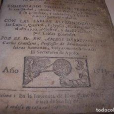 Libros antiguos: PRIMERA EDICION DEL AÑO 1713.EL NON PLUS ULTRA DEL LUNARIO Y PRONOSTICO PERPETUO.... TAPAS PERGAMINO. Lote 142463270