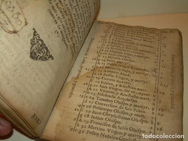 Libros antiguos: PRIMERA EDICION DEL AÑO 1713.EL NON PLUS ULTRA DEL LUNARIO Y PRONOSTICO PERPETUO.... TAPAS PERGAMINO - Foto 11 - 142463270