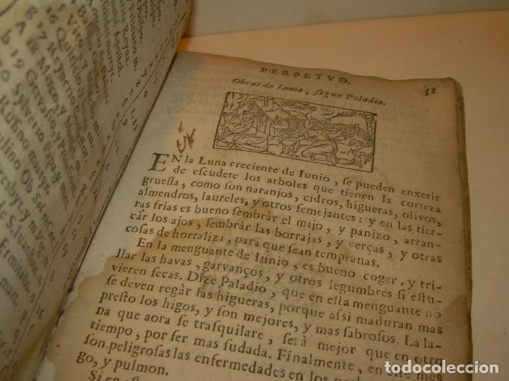 Libros antiguos: PRIMERA EDICION DEL AÑO 1713.EL NON PLUS ULTRA DEL LUNARIO Y PRONOSTICO PERPETUO.... TAPAS PERGAMINO - Foto 13 - 142463270
