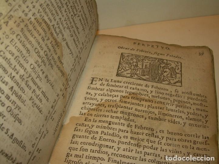 Libros antiguos: PRIMERA EDICION DEL AÑO 1713.EL NON PLUS ULTRA DEL LUNARIO Y PRONOSTICO PERPETUO.... TAPAS PERGAMINO - Foto 12 - 142463270