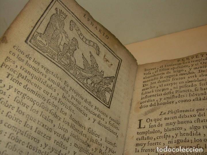 Libros antiguos: PRIMERA EDICION DEL AÑO 1713.EL NON PLUS ULTRA DEL LUNARIO Y PRONOSTICO PERPETUO.... TAPAS PERGAMINO - Foto 15 - 142463270