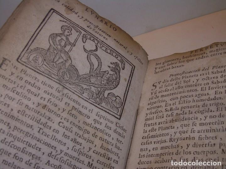 Libros antiguos: PRIMERA EDICION DEL AÑO 1713.EL NON PLUS ULTRA DEL LUNARIO Y PRONOSTICO PERPETUO.... TAPAS PERGAMINO - Foto 14 - 142463270
