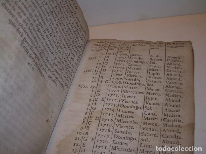 Libros antiguos: PRIMERA EDICION DEL AÑO 1713.EL NON PLUS ULTRA DEL LUNARIO Y PRONOSTICO PERPETUO.... TAPAS PERGAMINO - Foto 18 - 142463270