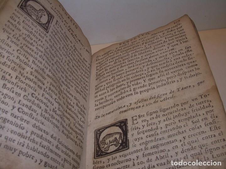 Libros antiguos: PRIMERA EDICION DEL AÑO 1713.EL NON PLUS ULTRA DEL LUNARIO Y PRONOSTICO PERPETUO.... TAPAS PERGAMINO - Foto 19 - 142463270