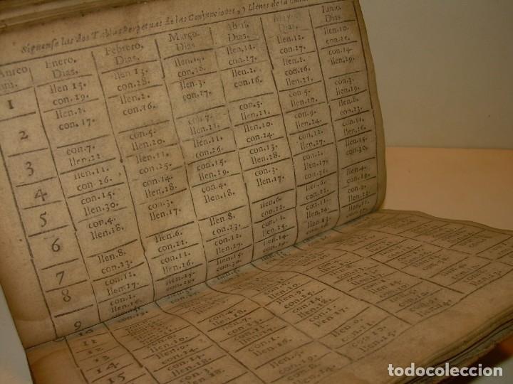 Libros antiguos: PRIMERA EDICION DEL AÑO 1713.EL NON PLUS ULTRA DEL LUNARIO Y PRONOSTICO PERPETUO.... TAPAS PERGAMINO - Foto 21 - 142463270