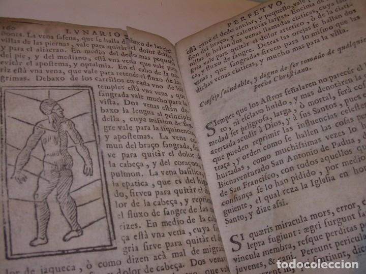 Libros antiguos: PRIMERA EDICION DEL AÑO 1713.EL NON PLUS ULTRA DEL LUNARIO Y PRONOSTICO PERPETUO.... TAPAS PERGAMINO - Foto 26 - 142463270