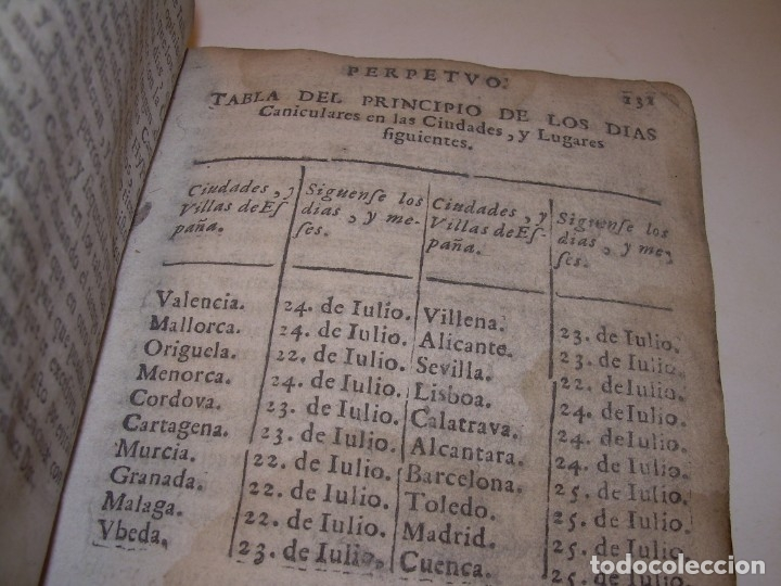 Libros antiguos: PRIMERA EDICION DEL AÑO 1713.EL NON PLUS ULTRA DEL LUNARIO Y PRONOSTICO PERPETUO.... TAPAS PERGAMINO - Foto 28 - 142463270
