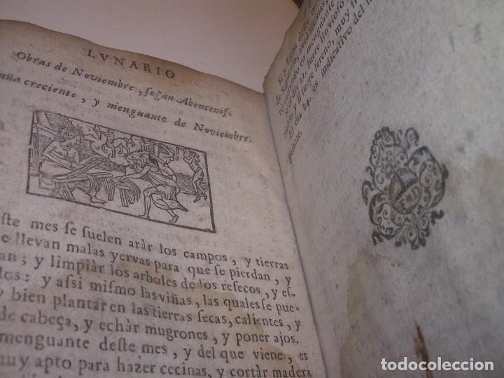 Libros antiguos: PRIMERA EDICION DEL AÑO 1713.EL NON PLUS ULTRA DEL LUNARIO Y PRONOSTICO PERPETUO.... TAPAS PERGAMINO - Foto 31 - 142463270