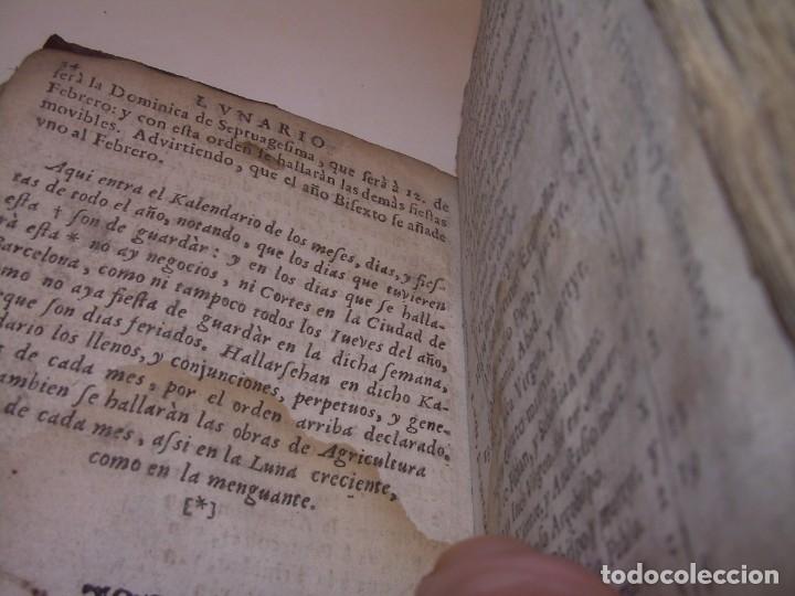Libros antiguos: PRIMERA EDICION DEL AÑO 1713.EL NON PLUS ULTRA DEL LUNARIO Y PRONOSTICO PERPETUO.... TAPAS PERGAMINO - Foto 32 - 142463270
