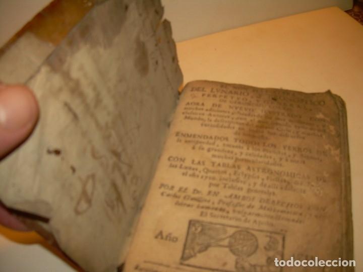 Libros antiguos: PRIMERA EDICION DEL AÑO 1713.EL NON PLUS ULTRA DEL LUNARIO Y PRONOSTICO PERPETUO.... TAPAS PERGAMINO - Foto 34 - 142463270