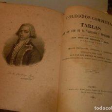 Libros antiguos: LIBRO .TABLAS DE MENDOZA PARA EL USO DE LA NAVEGACION Y ASTRONOMIA NAUTICA.AÑO 1863. Lote 142795290