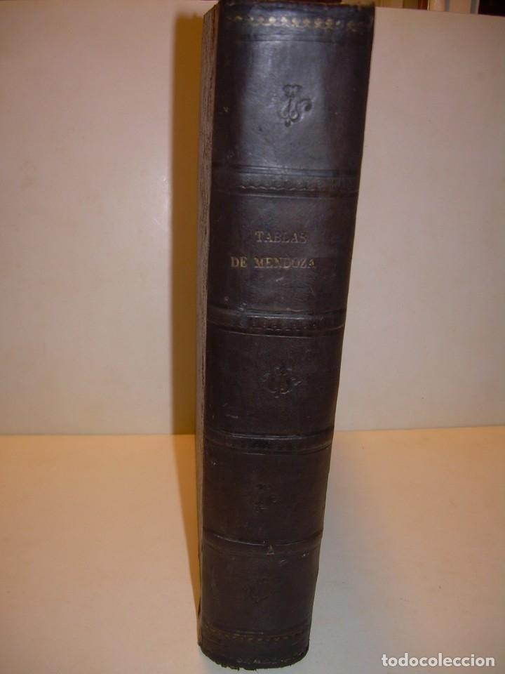 Libros antiguos: LIBRO .TABLAS DE MENDOZA PARA EL USO DE LA NAVEGACION Y ASTRONOMIA NAUTICA.AÑO 1863 - Foto 2 - 142795290