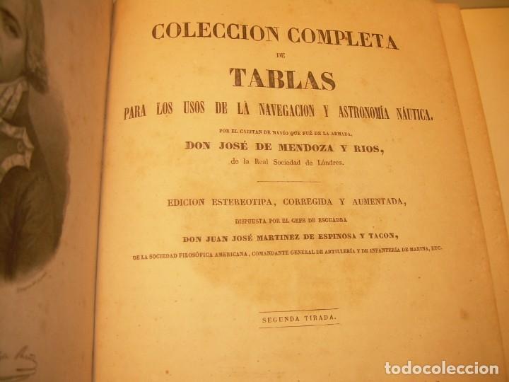 Libros antiguos: LIBRO .TABLAS DE MENDOZA PARA EL USO DE LA NAVEGACION Y ASTRONOMIA NAUTICA.AÑO 1863 - Foto 5 - 142795290