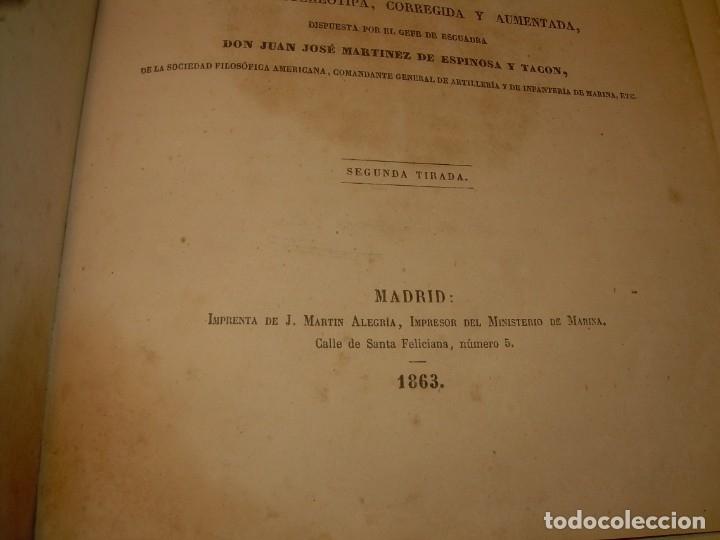 Libros antiguos: LIBRO .TABLAS DE MENDOZA PARA EL USO DE LA NAVEGACION Y ASTRONOMIA NAUTICA.AÑO 1863 - Foto 6 - 142795290