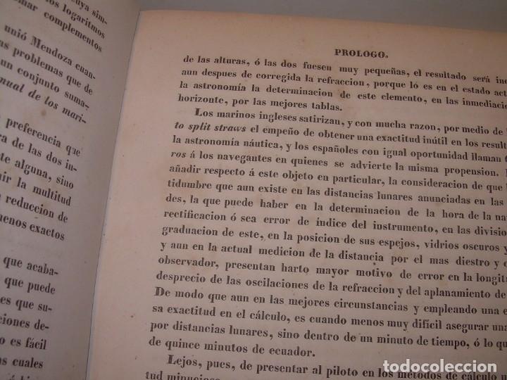 Libros antiguos: LIBRO .TABLAS DE MENDOZA PARA EL USO DE LA NAVEGACION Y ASTRONOMIA NAUTICA.AÑO 1863 - Foto 8 - 142795290