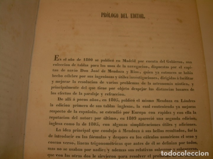 Libros antiguos: LIBRO .TABLAS DE MENDOZA PARA EL USO DE LA NAVEGACION Y ASTRONOMIA NAUTICA.AÑO 1863 - Foto 7 - 142795290