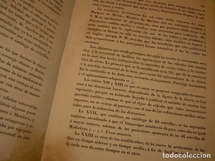 Libros antiguos: LIBRO .TABLAS DE MENDOZA PARA EL USO DE LA NAVEGACION Y ASTRONOMIA NAUTICA.AÑO 1863 - Foto 9 - 142795290