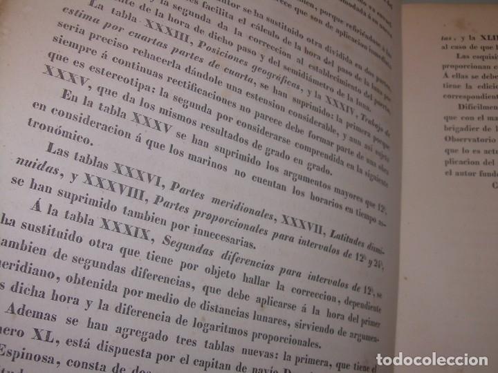 Libros antiguos: LIBRO .TABLAS DE MENDOZA PARA EL USO DE LA NAVEGACION Y ASTRONOMIA NAUTICA.AÑO 1863 - Foto 10 - 142795290