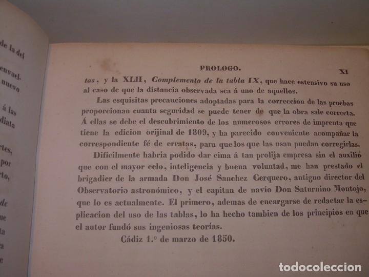 Libros antiguos: LIBRO .TABLAS DE MENDOZA PARA EL USO DE LA NAVEGACION Y ASTRONOMIA NAUTICA.AÑO 1863 - Foto 11 - 142795290