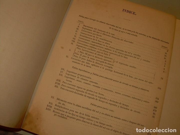 Libros antiguos: LIBRO .TABLAS DE MENDOZA PARA EL USO DE LA NAVEGACION Y ASTRONOMIA NAUTICA.AÑO 1863 - Foto 12 - 142795290