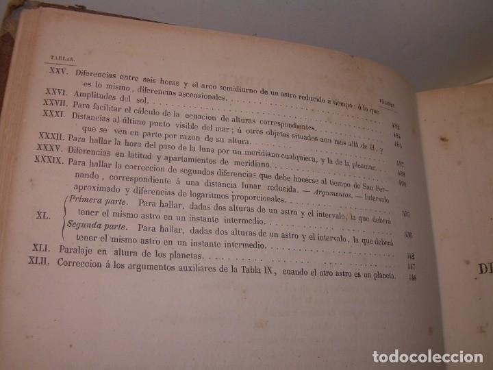 Libros antiguos: LIBRO .TABLAS DE MENDOZA PARA EL USO DE LA NAVEGACION Y ASTRONOMIA NAUTICA.AÑO 1863 - Foto 13 - 142795290