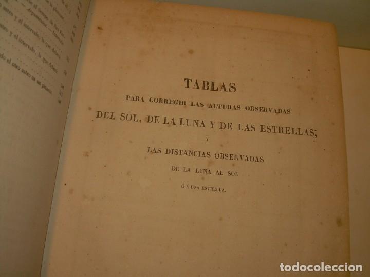 Libros antiguos: LIBRO .TABLAS DE MENDOZA PARA EL USO DE LA NAVEGACION Y ASTRONOMIA NAUTICA.AÑO 1863 - Foto 14 - 142795290