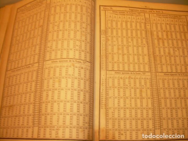 Libros antiguos: LIBRO .TABLAS DE MENDOZA PARA EL USO DE LA NAVEGACION Y ASTRONOMIA NAUTICA.AÑO 1863 - Foto 16 - 142795290