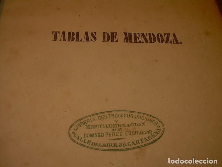 Libros antiguos: LIBRO .TABLAS DE MENDOZA PARA EL USO DE LA NAVEGACION Y ASTRONOMIA NAUTICA.AÑO 1863 - Foto 23 - 142795290