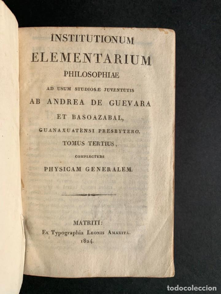 Libros antiguos: 1824 - Institutionum Elementaruym - Astronomia - Grabados - Guanajuato - Foto 2 - 143073562