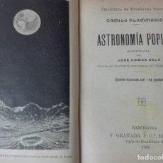 Libros antiguos: ASTRONOMIA POPULAR FLAMMARION JOSE COMAS SOLA 1906 ILUSTRADO. Lote 146273966