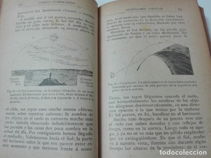 Libros antiguos: Astronomia popular Flammarion Jose Comas Sola 1906 ilustrado - Foto 5 - 146273966