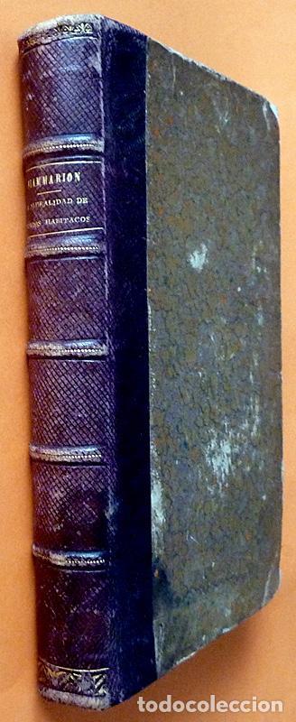 LA PLURALIDAD DE MUNDOS HABITADOS - CAMILO FLAMMARION - GASPAR Y ROIG EDITORES - 1873 (Alte, seltene und kuriose Bücher - Wissenschaften, Handbücher und Berufe - Astronomie)