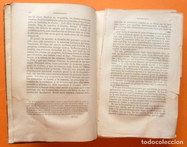 Alte Bücher: LA PLURALIDAD DE MUNDOS HABITADOS - CAMILO FLAMMARION - GASPAR Y ROIG EDITORES - 1873 - Foto 5 - 147378386