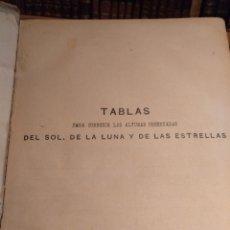Libros antiguos: SIGLO XIX. TABLAS DE MENDOZA .DIVERSAS TANLAS ASTRONOMICAS Y MATEMÁTICAS. ENVÍO GRATIS. Lote 149639318