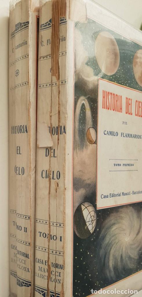 Libros antiguos: Historia del cielo de Camilo Flammarion II Tomos - Foto 3 - 150262374