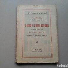 Libros antiguos: P. BUSCO. EL ORIGEN Y EL FIN DE LOS MUNDOS. 1ª EDICIÓN 1928. TRAD: JOSÉ TINOCO. ASTRONOMÍA.. Lote 150545078
