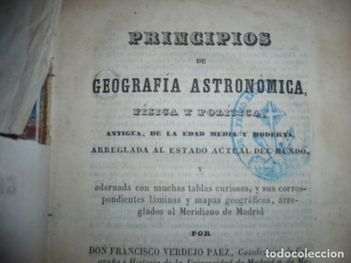 Libros antiguos: PRINCIPIOS DE GEOGRAFIA ASTRONOMICA FISICA Y POLITICA FRANCISCO VERDEJO PAEZ 1854 MADRID - Foto 3 - 152231742