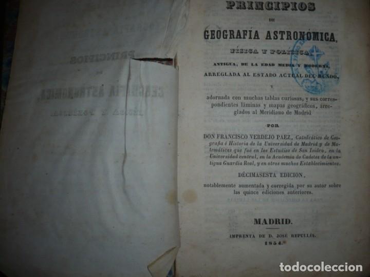 Libros antiguos: PRINCIPIOS DE GEOGRAFIA ASTRONOMICA FISICA Y POLITICA FRANCISCO VERDEJO PAEZ 1854 MADRID - Foto 2 - 152231742