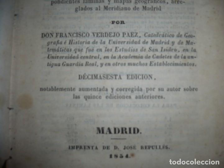 Libros antiguos: PRINCIPIOS DE GEOGRAFIA ASTRONOMICA FISICA Y POLITICA FRANCISCO VERDEJO PAEZ 1854 MADRID - Foto 4 - 152231742